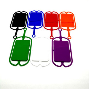 Wholesale Cell Phone Lanyard Card Holder Silicone Wallet Case Credit ID Card Bag Holder Pocket wallet card holder with Lanyard