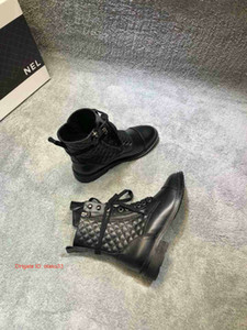 Wholesale Shoes Free Shipping Woman Boots Leather Ankle Boots Even Heel Women Shoes Autumn Winter Boots Inner Zip Ladies Booties 09171