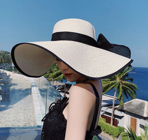 Wholesale hats ship china for sale - Group buy 2020 New Product Summer Straw Hat Women s Flat edge sunscreen hat foldable made in China Ready To Ship