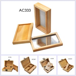 Wood Stash Box Storage Case For Smoking Accessories With Silicone Containers AC333 AC336 AC337 AC440 AC441