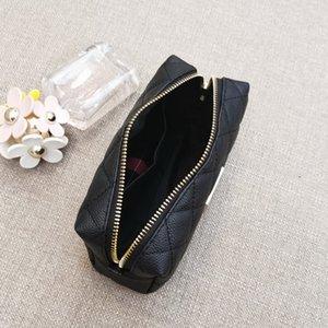 Classic black Famous fashion Portable cosmetic bag large capacity rhombus storage bag C symbol luxury bag toiletry Case VIP gift