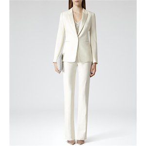 Custom Womens Business Work Suits Formal Evening 2 Piece Pant Suits Female Office Uniform One Button Ladies Trouser Suits