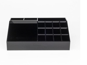Wholesale Hot sale Classic Acrylic Black Lipstick Multifunctional Display Stand Cosmetics Organizer Accessories Storage Boxes Gift Boxes