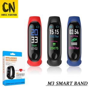 Wholesale DHL ship M3 Smart Band Bracelet Heart Rate Watch Activity Fitness Tracker pulseira Relógios reloj inteligente with Retail Box