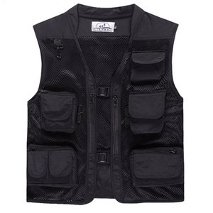 Summer Outdoor Men Camouflage Mesh Photography Vest Multi-pocket portable Breathable Quick Dry Light Fishing Vest Casacos on Sale