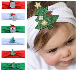 Wholesale New Arrival Children s Christmas Headbands Baby Kids Christmas Decoration Turban Fashion Hair Strap Hair Accessories Free ship