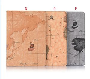Wholesale For Ipad Air Air3 Ipad Pro Tablet Croco Wallet Leather Case World Map Sea Book Stand Holder Skin Cover Pouch