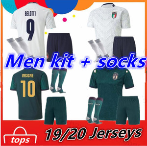 Italy Adult Kit + Socks maillot de foot 19 20 European league Cup soccer Jersey Verratti BONUCCI INSIGNE 2020 italy Football Shirt