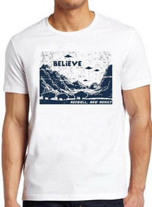 Ufo Believe T Shirt Roswell New Mexico Area 51 Alien Cool Flying Circles Tee 31