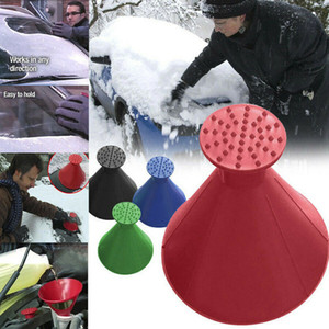 Wholesale automotive car tools Magical Car Windshield Ice Snow Remover Scraper Tool Cone Shaped Round Funnel
