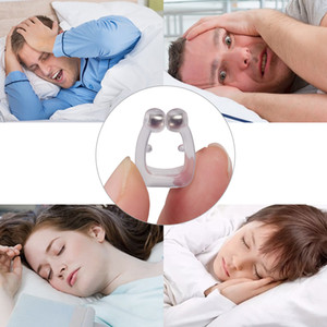 Wholesale stop snore for sale - Group buy Silicone Magnetic Anti Snore Stop Snoring Nose Clip Sleep Tray Sleeping Aid Apnea Guard Night Device with Case