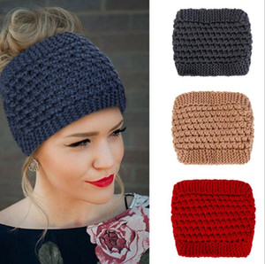 women warm crochet comb headband handmade lady twist knit hair bands wool knit earmuffs twist knot turban winter Bohemia wraps