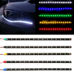 "10X12V 11.8"" 15SMD Waterproof LED Daytime Running Light 30cm Car Flexible LED Strip Light Decorative Car DRL Car-Styling"