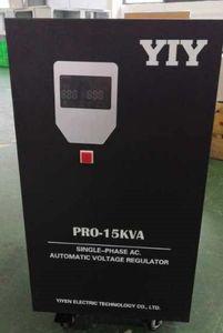 PRO-15KVA AC220V Automatic Voltage Regulator Stabilizer WIDE INPUT VOLTAGE RANGE split phase servo type motor colorful display in stock