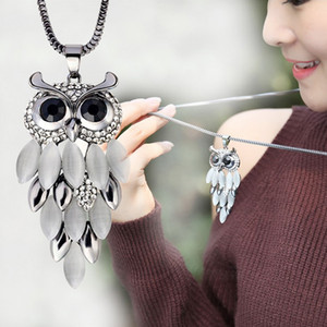 Wholesale 2017 New Arrival Owl Chain Necklace Women Fashion Design Pendant Long Necklace Female Women s Fashion Jewelry Accessories S5193