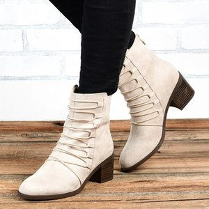Lasperal Flock Ankle Women Boots New Autumn Winter Lace Up Fashion Short Boots Sexy Ladies Shoes Zapatos Mujer Nice