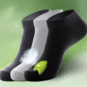 Wholesale 5 Pairs Set Men Socks Anti Bacterial Bamboo Fiber Casual Business Deodorant Man Low Cut Breathable Invisible Socks Dropship