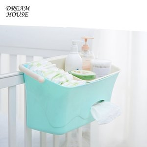 Wholesale Bed Hanging Storage Box Baby Diaper Nappy Organizer Cot Organizer Newborn Toy Feeding Bottle Storage Bag for Crib Bedding Set