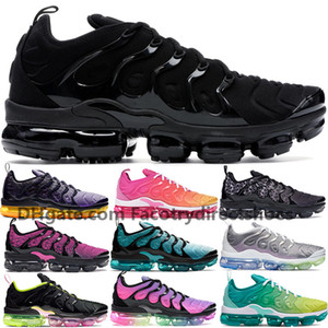 Wholesale New men women Plus Tn Shoes White Blue Aurora Green Bleached Aqua BeTrue Triple Black Shark tooth game royal mens running shoes sneakers