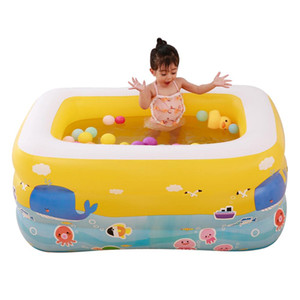 Wholesale Children s Outdoor Home Use Paddling Pool Large Inflatable Square Swimming Pool for Kids Baby Basin Bathtub Water Play