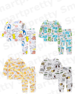 Wholesale childs clothes for sale - Group buy Baby Cotton Pajamas Summer Anti Mosquito Clothing Suit Kids Boy Girls Cartoon Print T shirt Pants Outfits Childs Breathable Clothes E31005