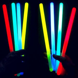 24 Pcs Glow Stick Color Bracelet Necklaces Neon Plastic Wand Novelty Toy LED Flash Stick Lights Stick Vocal Concert Bar Party BH2177 CY