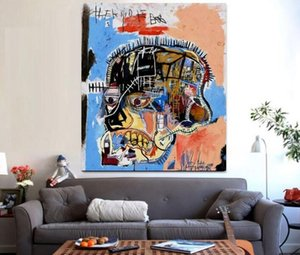 Jean Michel Basquiat Art Silk popp style ,Home Decoration Modern Art Painting on Canvas a023