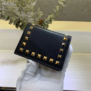Wholesale New leather contrast color buckle mini wallet ladies hot brand wallet ladies fashion short mini brand coin purse envelope wallet