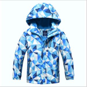 New children's clothing, windproof, waterproof, warm, children's windbreaker, boys and girls, big children's outdoor jacketS-M-L-XL-XXL code on Sale