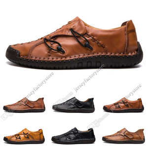 Wholesale new england breathable shoe for sale - Group buy new Hand stitching men s casual shoes set foot England peas shoes leather men s shoes low large size Twenty six