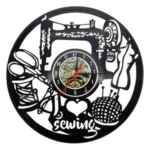 Sewing Vinyl Record Clock Home Decor Art Decorative Vintage Wall Clock Gift for Your Friends or Family