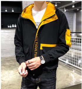 Wholesale Mens Jacket Luxury Clothes Autumn Mens Hip Hop Designer Thin Unisex Men Hooded Slim Mens Jacket Casual Stylish Jacket Plus Size M XL