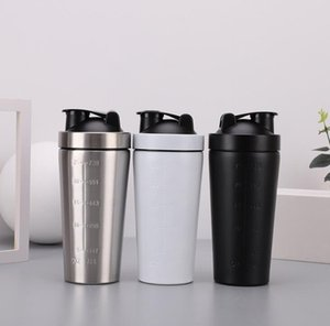 Wholesale Protein Shaker Cup Stainless Steel Drinkware ml Vacuum Insulated Shaker Water Bottle Sports Mixer Milkshake Cup Coffe Cup