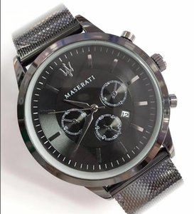 Wholesale Gift fashion Italy Brand Fashion maserati Casual Steel Mesh Watch VOLARE Men mm Business Quartz Watch wristwatches