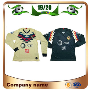 Wholesale 2019 Long sleeve LIGA MX Club America soccer Jerseys America team C DOMINGUEZ O PERALTA P AGUILAR Football shirt uniform