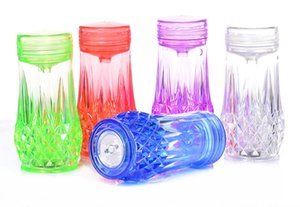 Wholesale Arabic acrylic water cigarette pots are available in many colors blue purple green colorful and red
