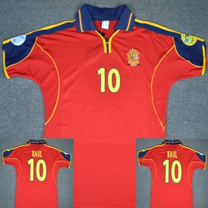 Wholesale 2000 RAUL Retro Soccer Jersey Vintage Recoba Football Shirts Spain RAUL