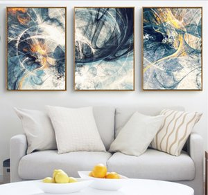 Wholesale Abstract Art Canvas Paintings Modular Pictures Wall Art Canvas for Living Room Decoration No Framed