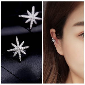 Wholesale gold star ear cuff for sale - Group buy MIGGA Trendy Cubic Zirconia Star Ear Cuff White Gold Color Clip Earrings No Pierced Women Girls Brincos