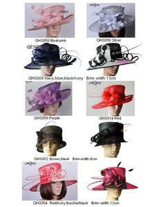 Wholesale Wide brim sinamay hats for church,Kentucky Derby,Wedding,party,races,sell in mix styles mix colors