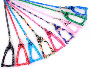 Newest 1.0*120cm Dog Harness Leashes Nylon Printed Adjustable Pet Dog Collar Puppy Cat Animals Accessories Pet Necklace Rope Tie Collar SN