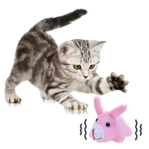 Wholesale Cute Cat Animals Toy Plush Stuffed Walking Pulling Shake Pet Dogs Chew Bite Teaser Funny Toys Interactive Cat Toys Pet Supplies Cute
