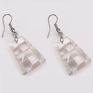 Wholesale natural sea shell jewelry for sale - Group buy Trapezoid Shape Natural Sea Shell Dangle Earrings Island Style Mother of Pearl Shell Chic Jewelry Pairs
