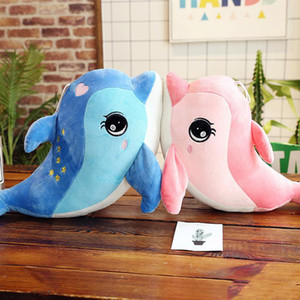 Wholesale Lovely Mini Cute Dolphin Charms stuffed animals Kids Plush Toys Home Party Pendant squishy christmas Gift Decorations