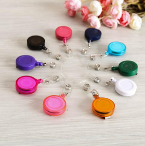 Wholesale Retractable Lanyard ID Card Badge Holder Reels with Clip Keep ID Key Cell phone Safe