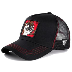 Wholesale New Summer Mesh Cap Anime Cartoon Snapback Animal TAZ Embroidered Drawing Baseball Cap For Women Men Truck Driver Hat