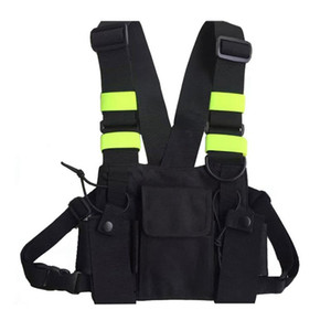 Wholesale Outdoor Hunting Vest Chest Bag Radio Chest Pouch Pack Holder Carrying Case Reflective Apparel Hunting Wear
