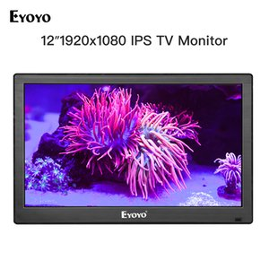 Wholesale Eyoyo EM12T quot x1080 HDMI TV Monitor Portable Kitchen TV IPS LCD Screen Display AV USB Input for PC CCTV Camera Monitor