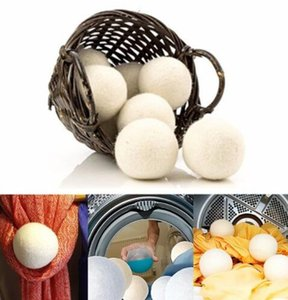 Wholesale 7cm Wool Dryer Balls Laundry Clean Ball Laundry Fabric Softener Ball Premium Wool Dryer Balls KKA6889