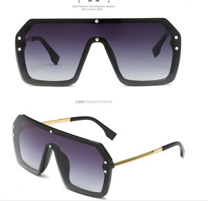Wholesale hot men brand FF grid designer sunglasses Classic Metal legs vintage shiny goggles summer style laser logo top quality
